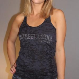 t-shirt photos - black burnout tank top